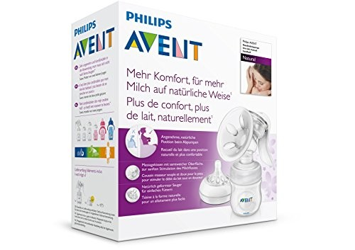 AVENT – Tire-lait manuel avec biberon de conservation Natural 125 ml