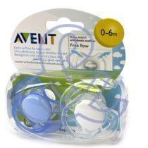 Avent 2 Sucettes Orthodontiques Silicone 0-2 Mois